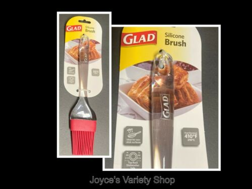 """GLAD Brand Basting Brush Cooking Food Preparation 2/"""" Coverage Clear /& Red"""
