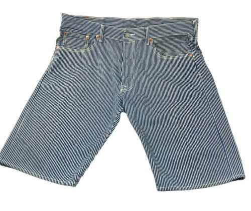 Vintage Levi's 501 Men's Size 38 Pin Striped Short