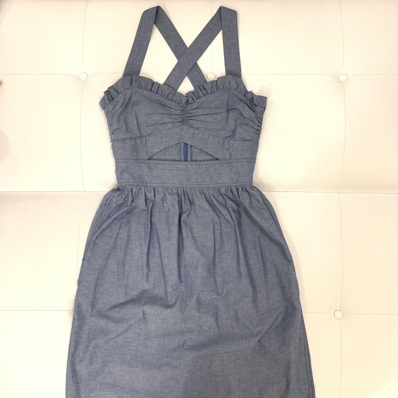 JILL STUART Denim Wash Dress Sz 6