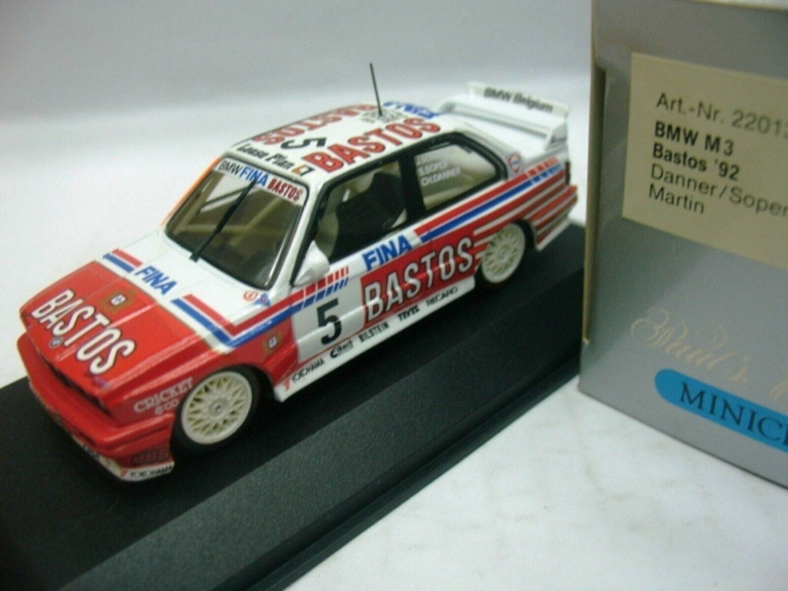 Wow extrêmement rare BMW M3 E30 se Spa 1992  05 Soper Winner 1 43 Minichamps-DTM
