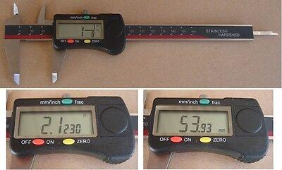 """Digital Messschieber 150 mm/6"""" Bruchanzeige 1/128"""" NEU"""