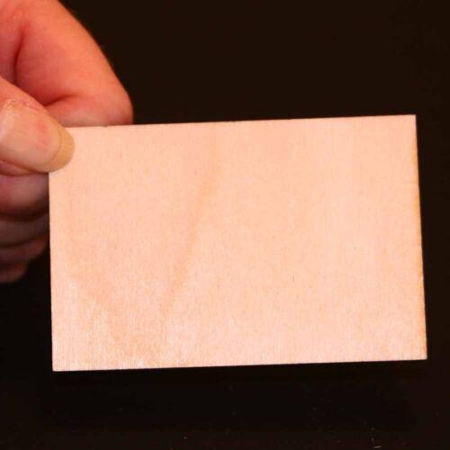 Rectangle - 3 x 2 x 1/8 inch unfinished wood (RTSQ06)