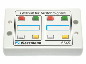 Viessmann-5545-Panneau-de-Boutons-4-begriffig-Neuf