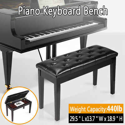 Admirable Leather Padded Piano Bench W Storage Double Seating Keyboard Black 6971888423417 Ebay Beatyapartments Chair Design Images Beatyapartmentscom