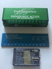 Lot Of Brasseler Endosequence Burs Blocks With Endo Ruler 2 Pathfiles