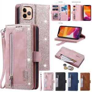 Fr-iPhone-12-Mini-11-Pro-Max-Xs-7-8-6-Plus-Zipper-Leather-Flip-Wallet-Case-Cover