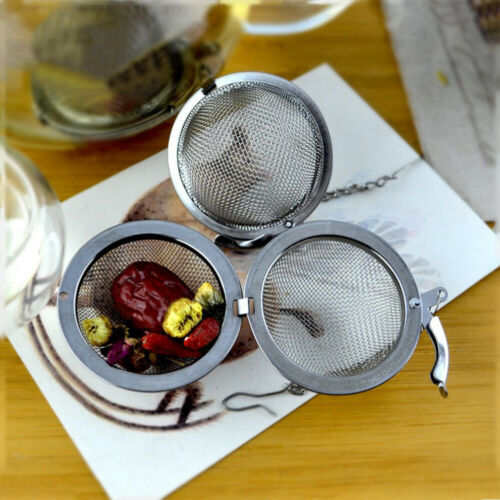 1x Tea Ball Stainless Steel Sphere Mesh Strainer Filter Spice Infuser Soup nice