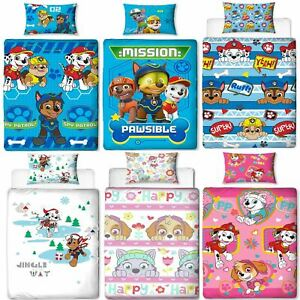 Official-Paw-Patrol-Licensed-Duvet-Covers-Single-Double-Chase-Skye-Marshall