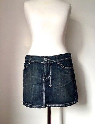 100% Vero Zara Trf Minigonna In Denim Jeans 36 Uk 10 Utilizzati Una Sola Volta In Sparare- Essere Romanzo Nel Design