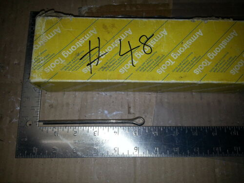 "NIB SPLIT COTTER CLEVIS DOWEL PINS SPRING SHAFT STAINLESS STEEL 5"" LOT OF 5"