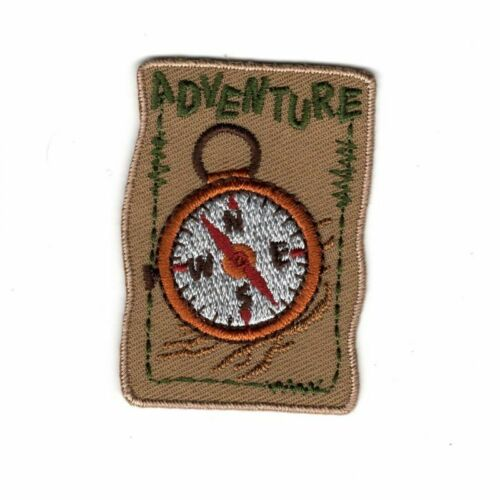 Patch Ecusson Thermocollant Adventure Boussole 3,50 x 5 cm REF 4083