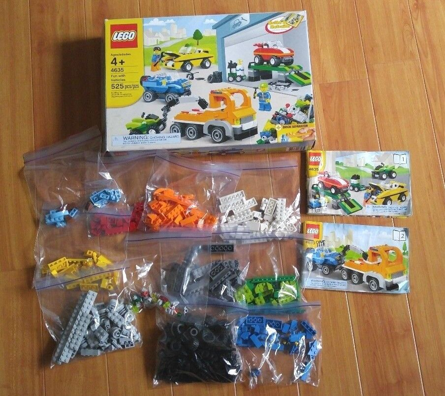 Lego 4635 Fun with with with Vehicles - used completed set with box and instruction 0f2fe2