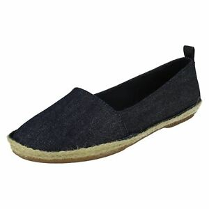 CLOVELLY SUN LADIES CLARKS LEATHER SLIP ON SUMMER SHOES ESPADRILLE CASUAL PUMPS