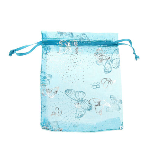 100pcs 7//9//11cm Organza Mesh Bag Wedding Favor Gift Candy Jewelry Pouch 3 Colors