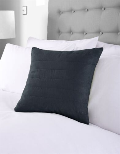 "2 x Faux Suede Navy Blue 16/"" 40CM Cushion Covers"