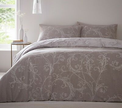 CRESSIDA STONE GREY QUILT COVER SETS-BEDDING SET DUVET SETS