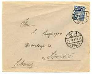 Latvia-Riga-Cover-with-Stamp-1924-Sent-to-Switzerland