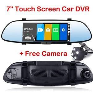 7-inch-HD-Dual-Lens-Car-DVR-Dash-Cam-Front-and-Rear-Mirror-Camera-Video-Recorder