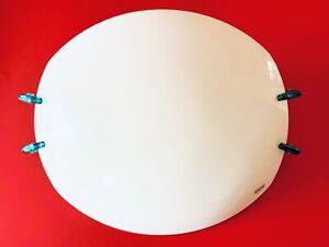 🔴 ENORME applique lampada da muro a scudo anni 80 vetro di Murano ORIG. Mazzega