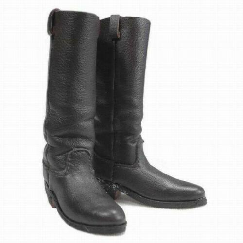 1//6 Battle Gear Toys Cowboy High Boots 1880/'s 809 01 Cuir Noir Western