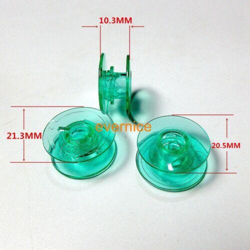 Schachtel mit 25 durchsichtigen grünen Spulen für Husqvarna Viking S215 Topaz