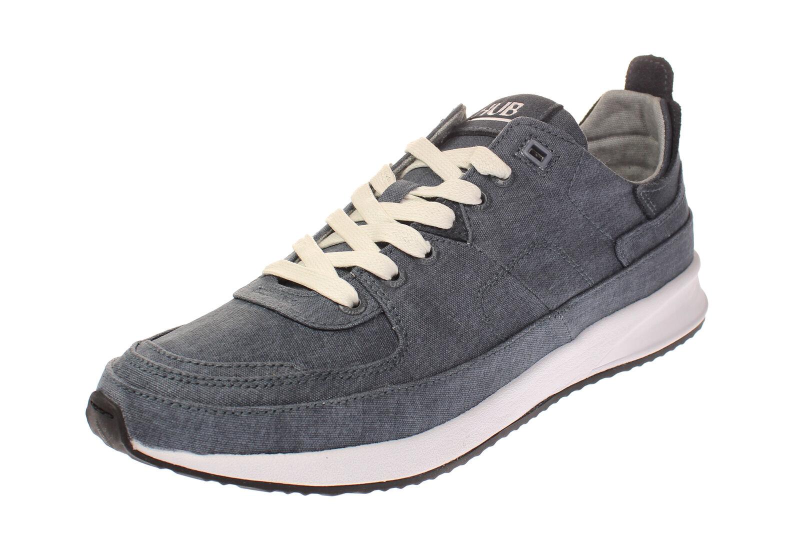 Hub Footwear Zone-M-caballero zapatos zapatillas-Navy-blanco-negro