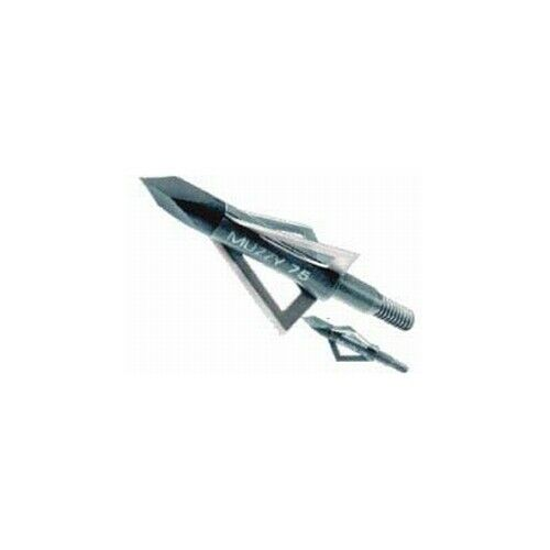 "Muzzy Archery 3-Blade 75Gr 1/"" Broadheads 6 Pk USA Ships Free"