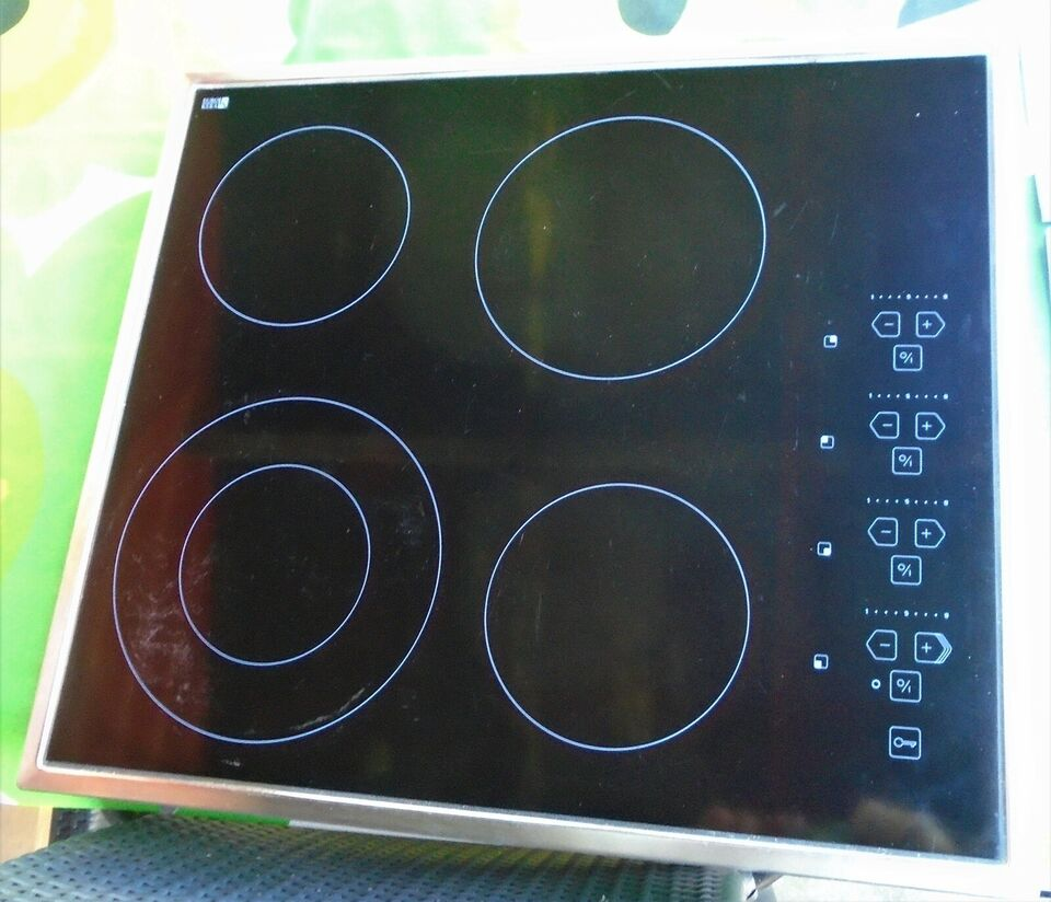 Glaskeramisk kogeplade EuroKera keramisk kogeplade, b: