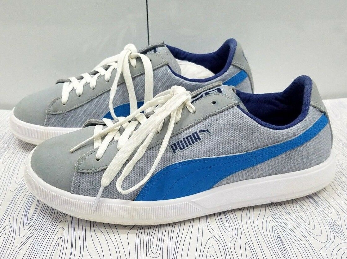 Puma Eco Ortholite Grey bluee White Ultra Lightweight Men's Size 7.5