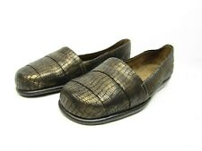 790e7396a50 A2 by AEROSOLES Softball Loafer Flats Bronze Metallic Size 6.5M