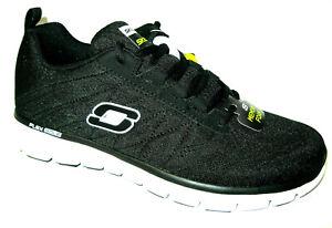 Dettagli su Skechers Uomo Memory Foam Con Lacci Atletico Scarpe da  ginnastica Power Switch Suola Flessibile- mostra il titolo originale