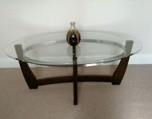 Clear Glass Top Wood Coffee Table Set 1 X Large 2 X Small