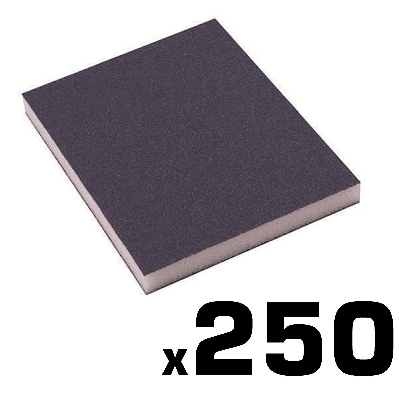 250 x Trade Flexible Sanding Pads Medium Grade Grit Wet and Dry Wood Paint Metal