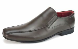 Mens Leather Slip On Formal Casual