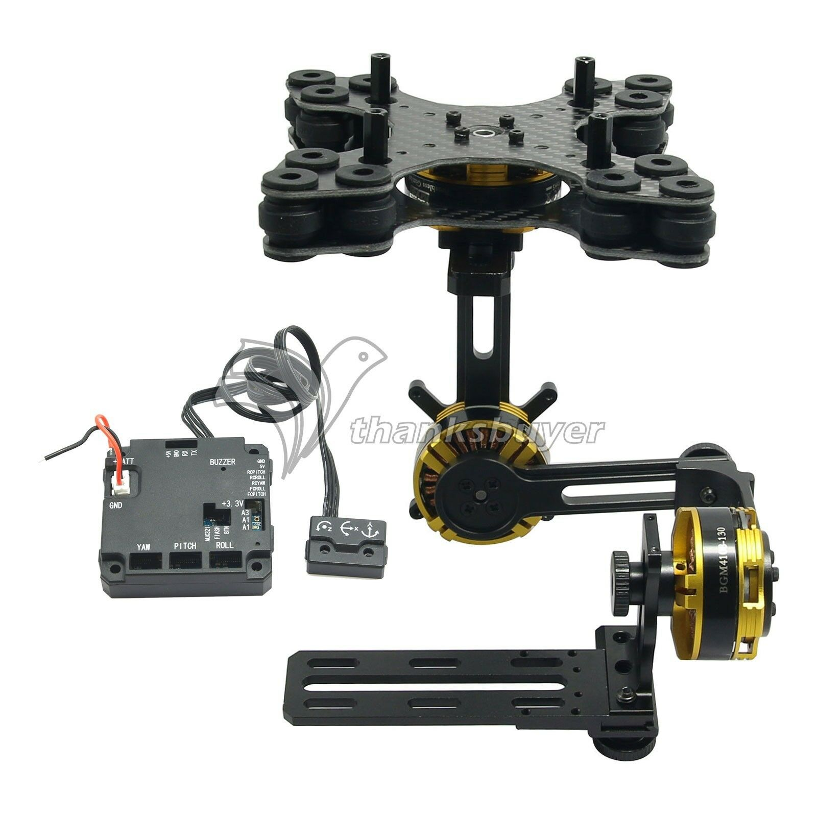 Aluminium  tuttioy Mini DSLR 3 Axis Brushless Gimbal with Motors e Controller  negozio fa acquisti e vendite
