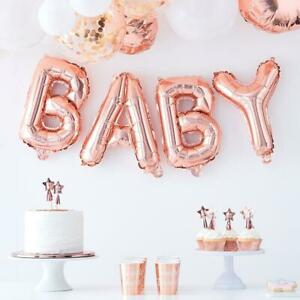 """32/"""" Rose Gold ONE Foil Balloon Banner Bunting Baby 1st 2nd 5th Birthday Decor"""