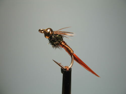 16 available 3 X GOLD HEAD COPPER JOHN NYMPHS  sizes 10 14 12