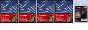 Ultra-Pro-100-Toploaders-amp-100-Card-Sleeves-Free-Ship-Top-Loaders-Brand-New
