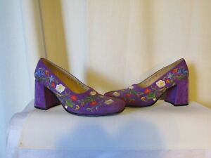 Purple brodées Lance Chaussures Suede Free qBtPwCWzC7