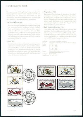 Brd Ministerkarte 1983 MotorrÄder Motorcycles Minister Card Rare!! Z2263