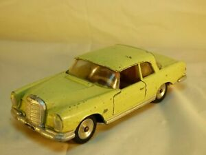 Vintage-decada-de-1960-1-43-Solido-Mercedes-Benz-220-se-ref-126-Amarillo-Juguete-Diecast-Modelo