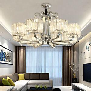 Details zu LED Wohnzimmer K9 Kristall Hängelampe Lüster Leuchte  Kronleuchter Deckenleuchte