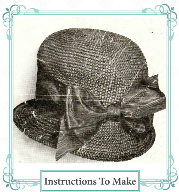 How to make a vintage downton abbey era hat- a crochet pattern for a 1910 hat