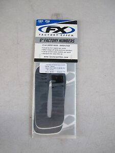"FACTORY EFFEX 6"" BLACK #0 FACTORY NUMBER FOR NUMBER PLATE (#134400)"