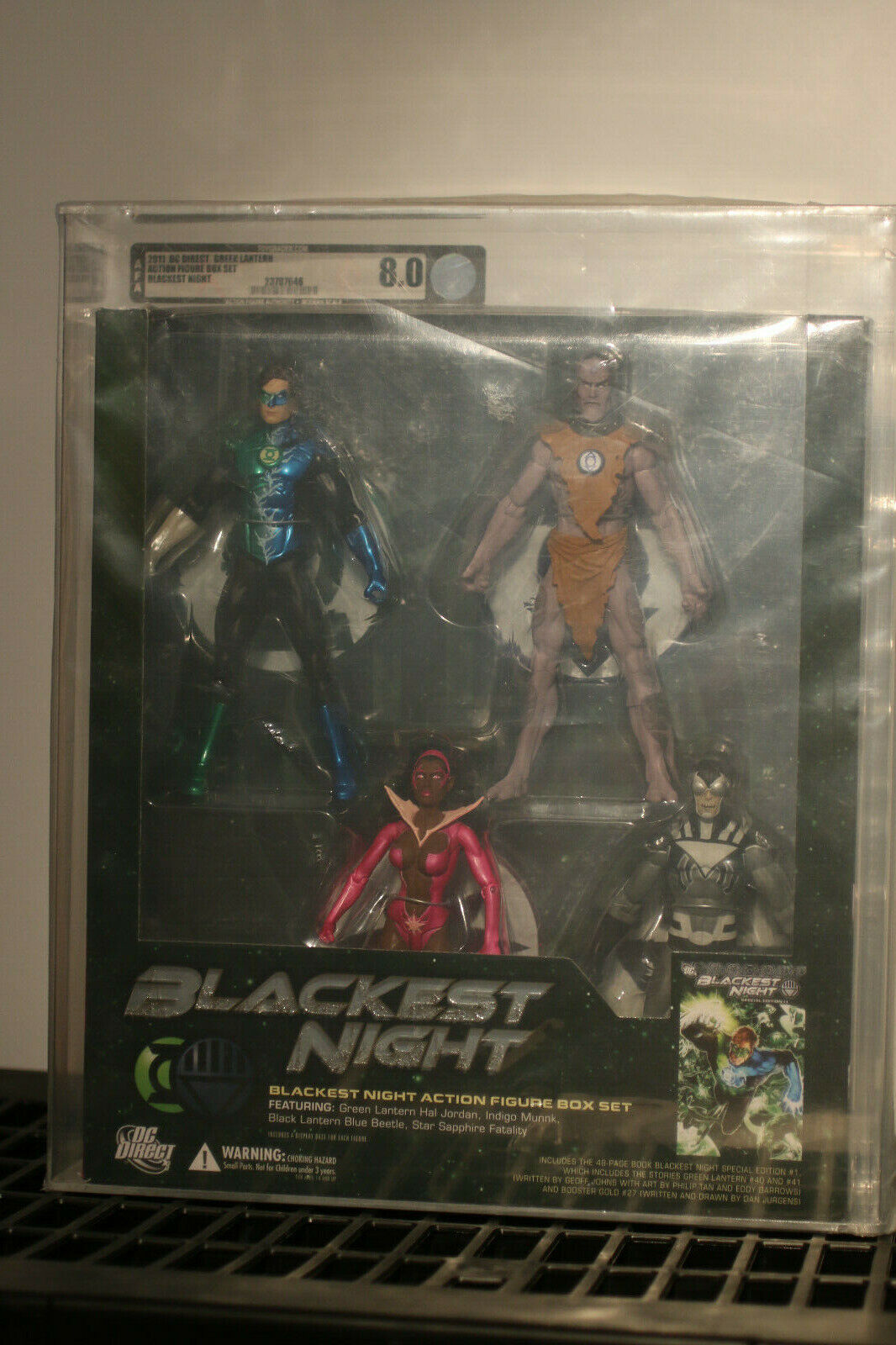 DC Direct Linterna verde negroest Night en Caja Set Zafiro EsCocheabajo Azul AFA 8.0