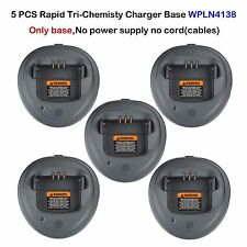 5x Rapid Charger Tri-Chemistry Base For Motorola CP200D CP200XLS Portable Radio