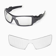 New Walleva Clear Lenses For Oakley Oil Rig Sunglasses