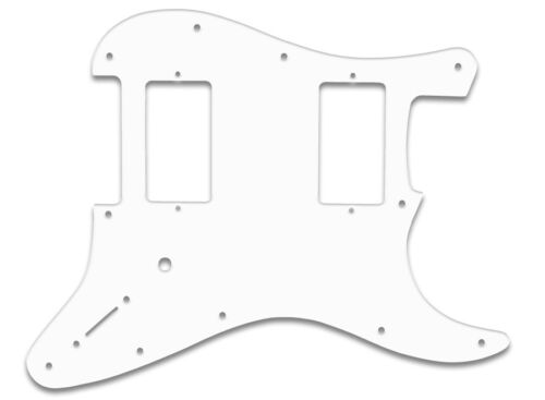FENDER® STRAT® WHITE US QUALITY PICKGUARD 2 HUMBUCKER JIM ROOT HH PG 3PLY WBW f