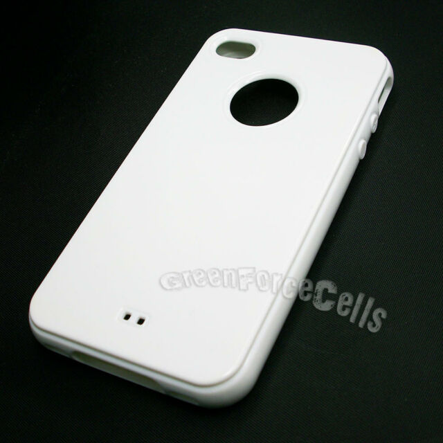 Pure White TPU Soft Silicone phone case Skin cover For Apple iPhone 4 4S 4GS