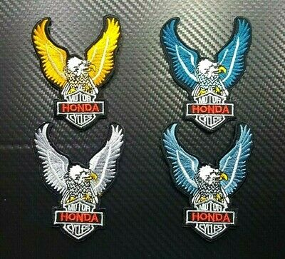 Honda Racing HRC Sport Biker Motorcycles Car Embroidered Iron on Patch Wing